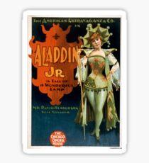 Aladdin Jr 1 - Strobridge - 1894 Sticker