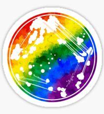 Rainbow Quadrant Streak Sticker