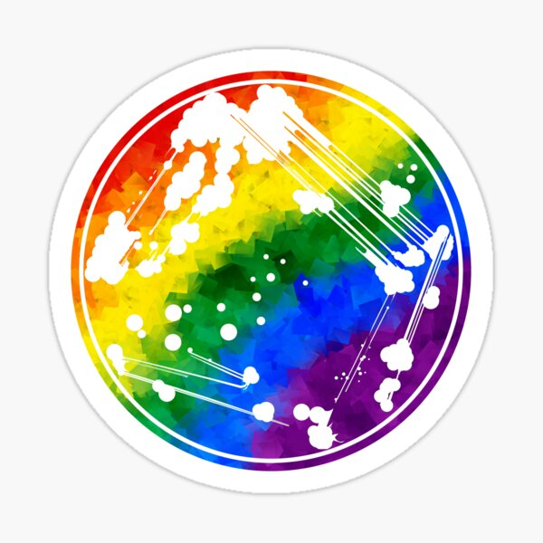 Rainbow Quadrant Streak Sticker