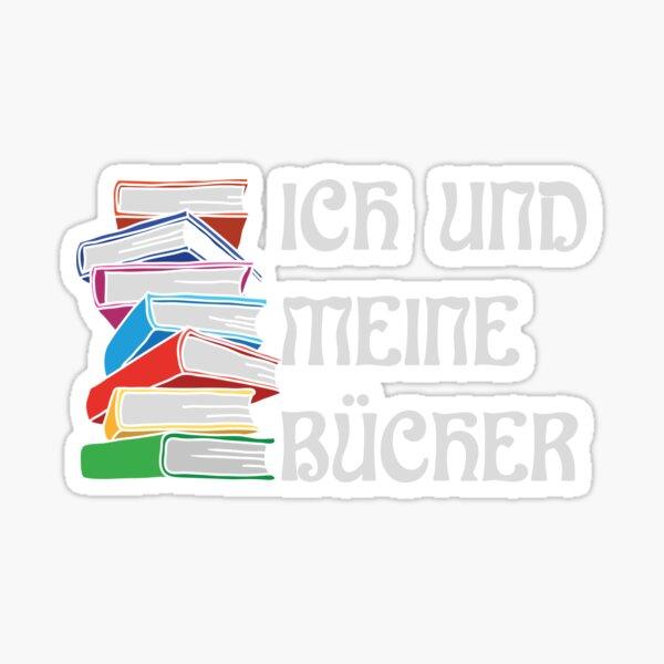 ICH UND MEINE BÜCHER Sticker