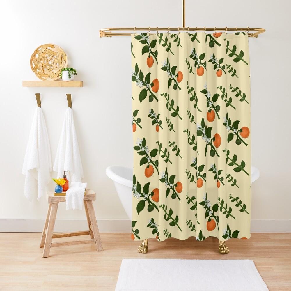Minty Orange Home Shower Curtain
