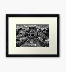 Hatley Castle Black And White Vintage Photo Framed Print