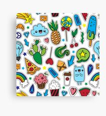 Fun patches Canvas Print