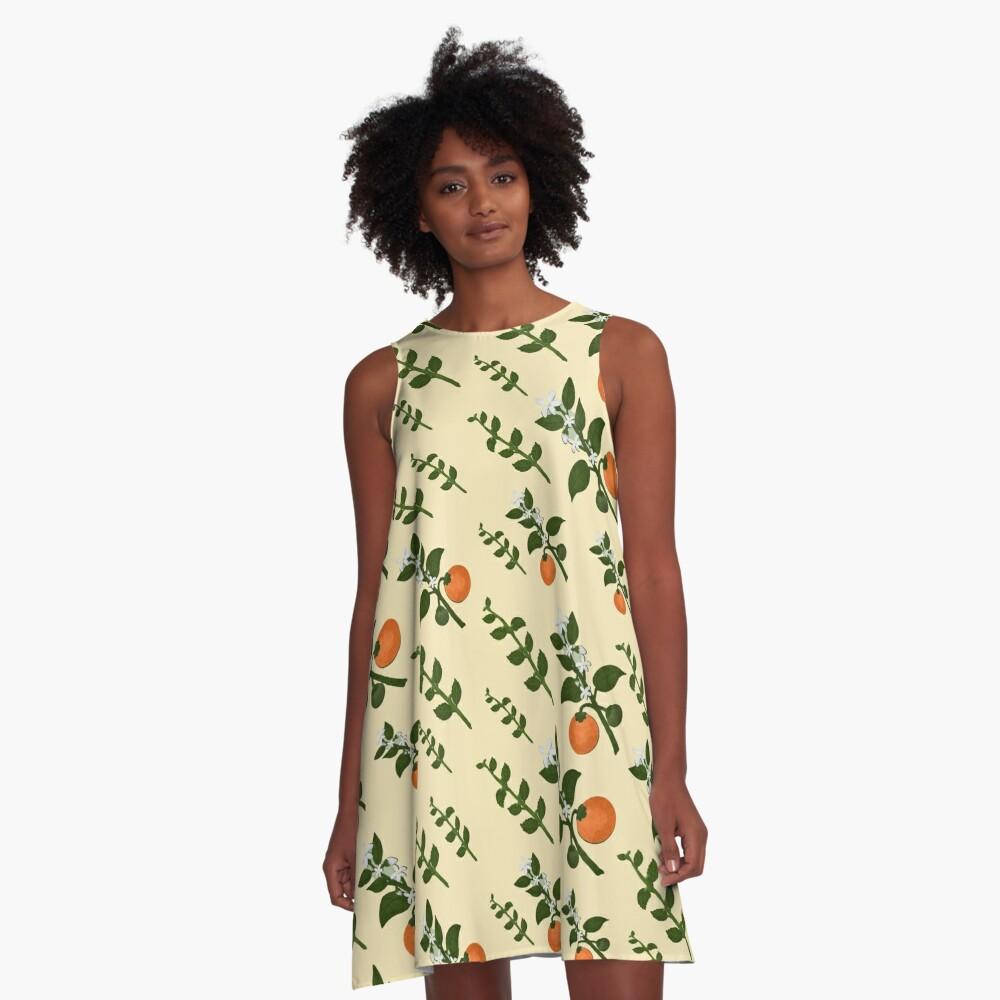 Minty Orange Wear A-Line Dress