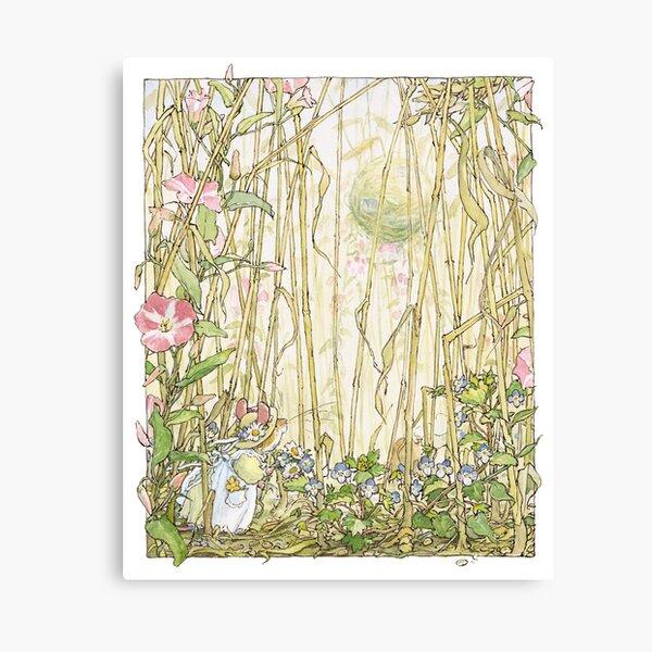 Primrose gathering flowers Canvas Print