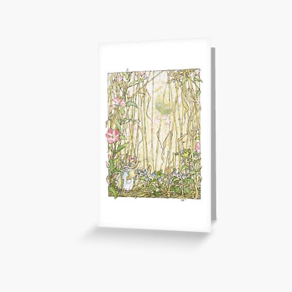 Primrose gathering flowers Greeting Card