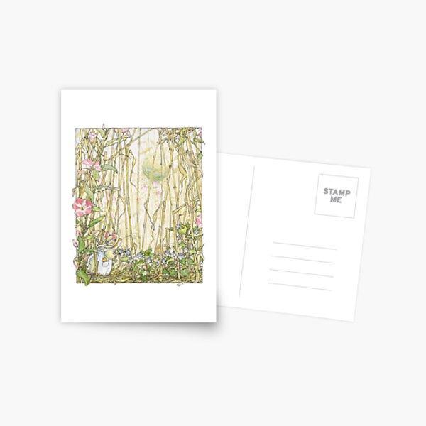 Primrose gathering flowers Postcard