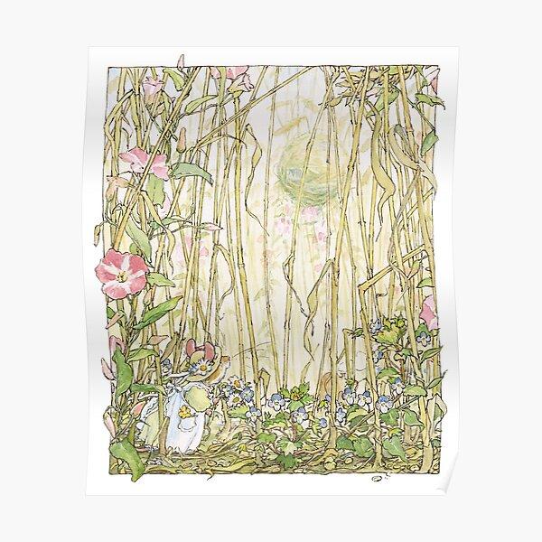 Primrose gathering flowers Poster