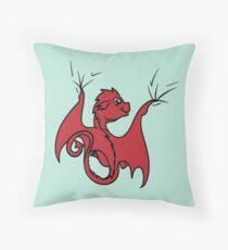 Red Dragon Rider Throw Pillow