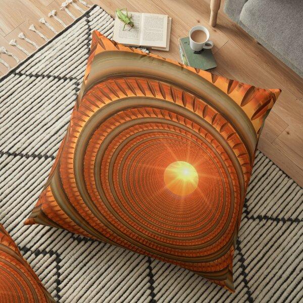 Sunshine spiral Floor Pillow
