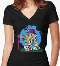 Star Wars: Street Art2D2 Women's Fitted V-Neck T-Shirt