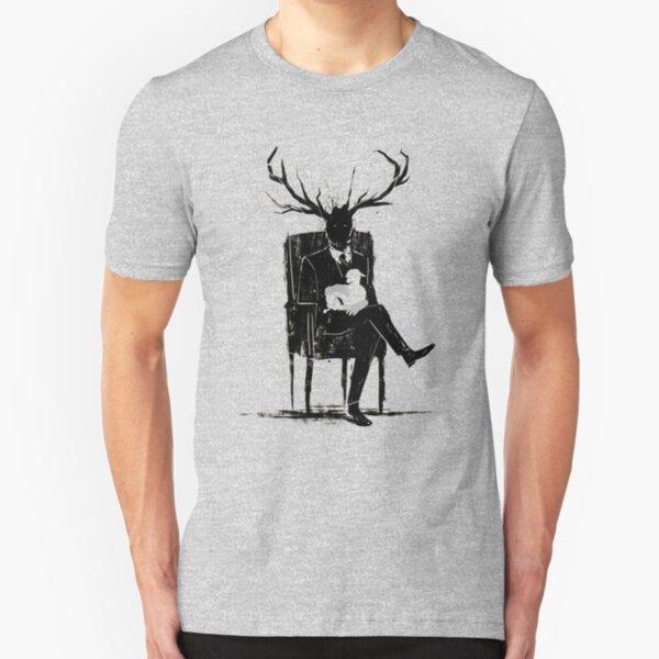 Hannibal Lecter NBC Stag Antlers Lamb Slim Fit T-Shirt