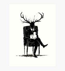 Hannibal Lecter NBC Stag Antlers Lamb Art Print