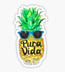 Pineapple in Sunglasses Costa Rica Summer Pure Life Sticker