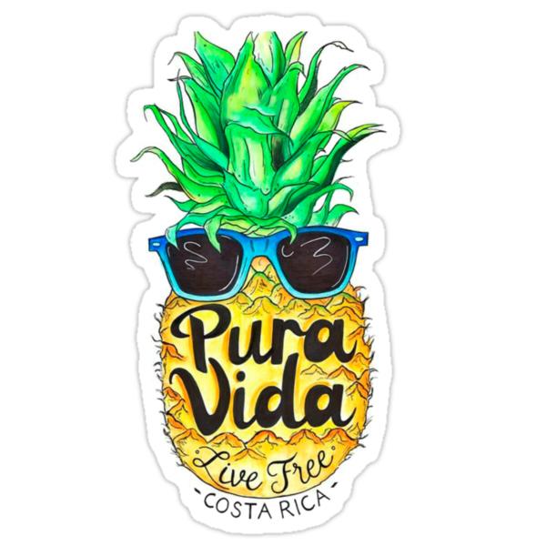Quot Pineapple In Sunglasses Costa Rica Summer Pure Life