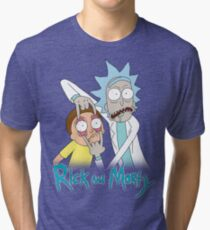 Rick And Morty | Eyes Wide Open Tri-blend T-Shirt