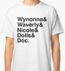 Wynonna Earp Names (black) Classic T-Shirt