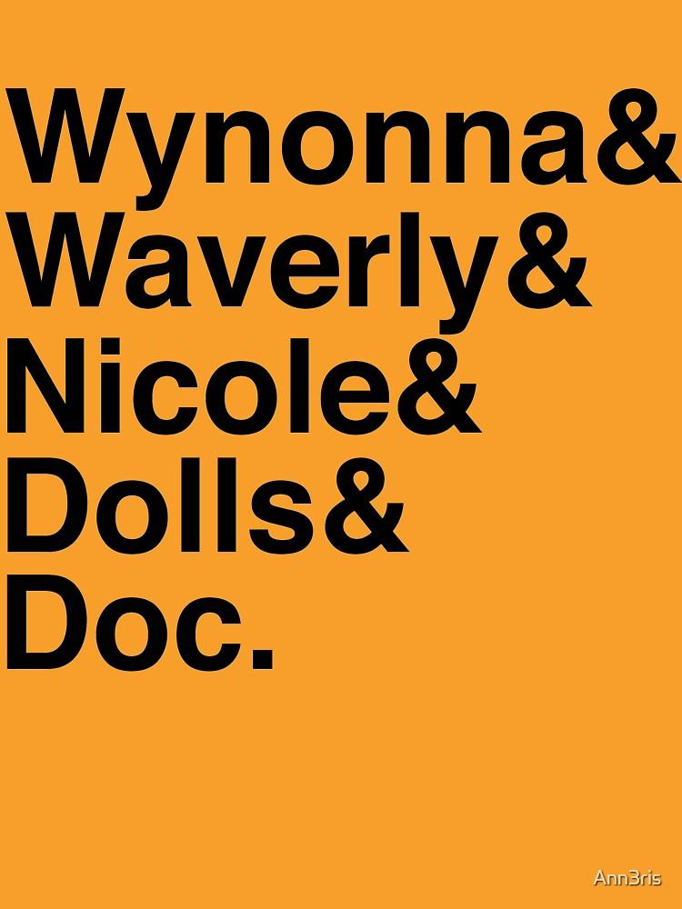 Quot Wynonna Earp Names Black Quot T Shirt By Ann3ris Redbubble
