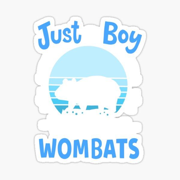 Wombat Retro Sticker