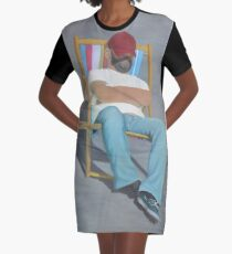 DOING NOTHING Graphic T-Shirt Dress