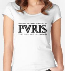 PVRIS - My House Black Women's Fitted Scoop T-Shirt