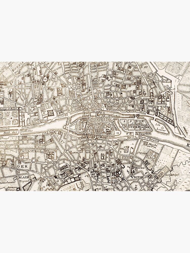 Vintage Map of Paris France (1742) by BravuraMedia