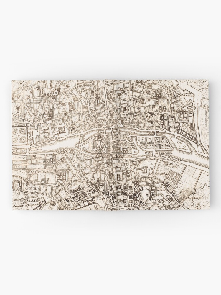 Alternate view of Vintage Map of Paris France (1742) Hardcover Journal