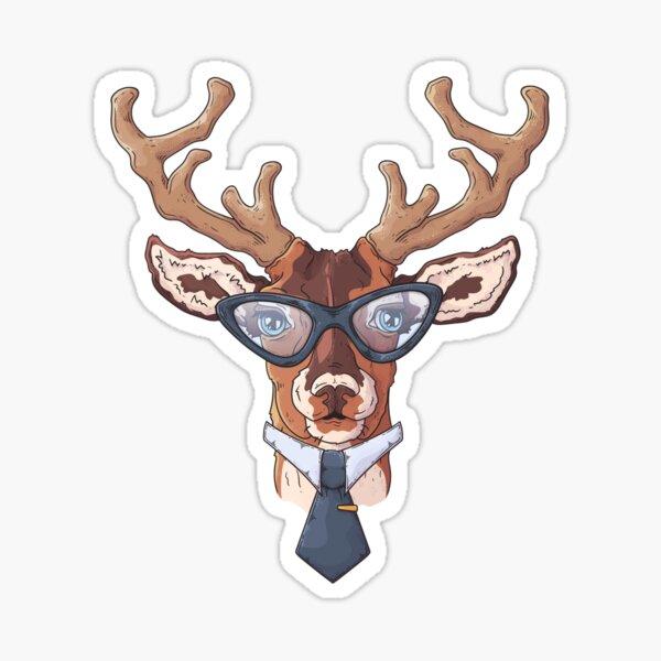 Smart Business Deer Sticker