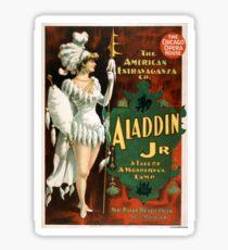 Aladdin Jr 3 - Strobridge - 1894 Sticker