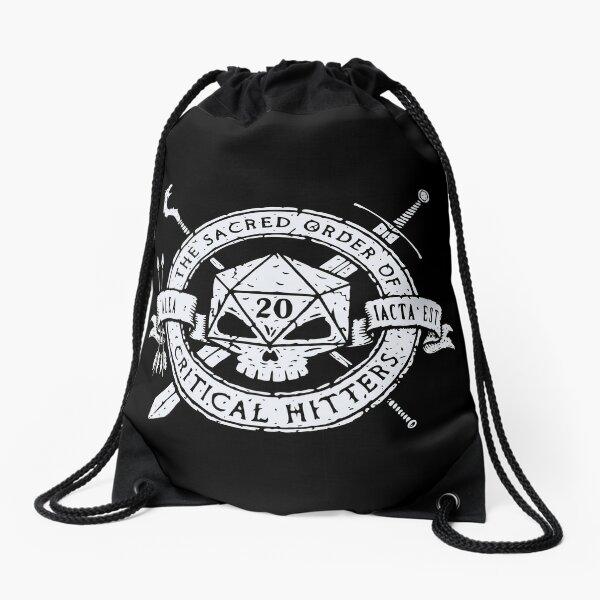 The Sacred Order Of Critical Hitters! (V1) - Funny Geek Tabletop Games Drawstring Bag