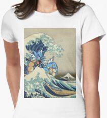 The Great Wave Off Gyarados Women's Fitted T-Shirt
