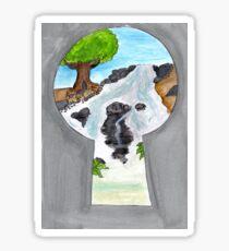Keyhole Sticker