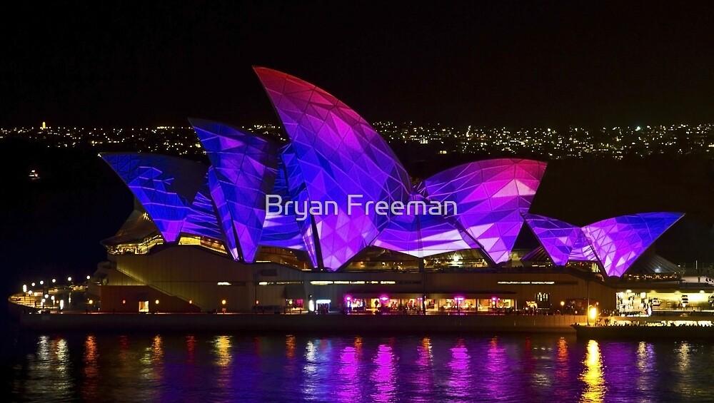 Panel Sails - Sydney Vivid Festival - Sydney Opera House by Bryan Freeman