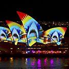 Shark Sails - Sydney Vivid Festival - Sydney Opera House by Bryan Freeman