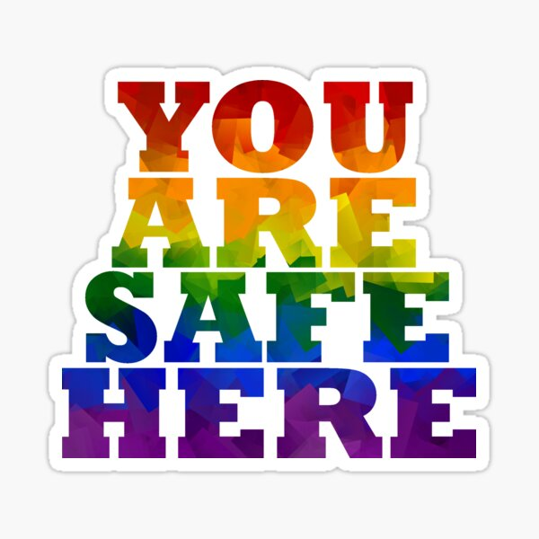 Safe Space Sticker Sticker