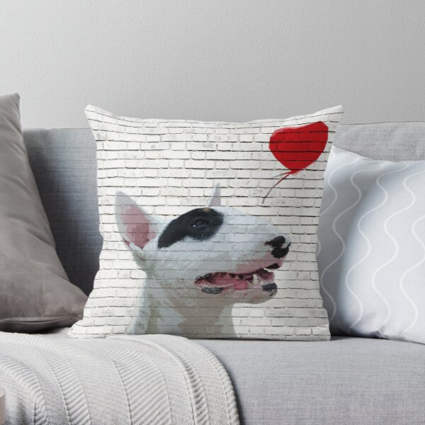 Anglais Bull Terrier Banksy Style Coussin