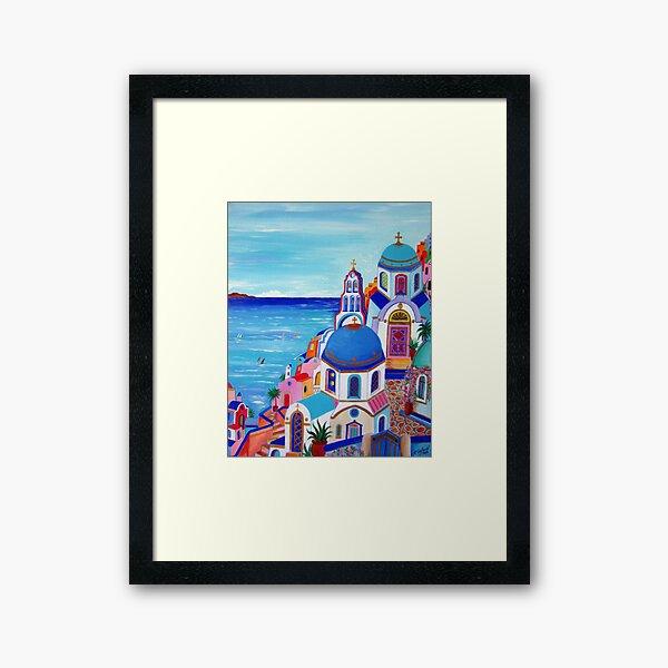 Colorful Oia Santorini Framed Art Print