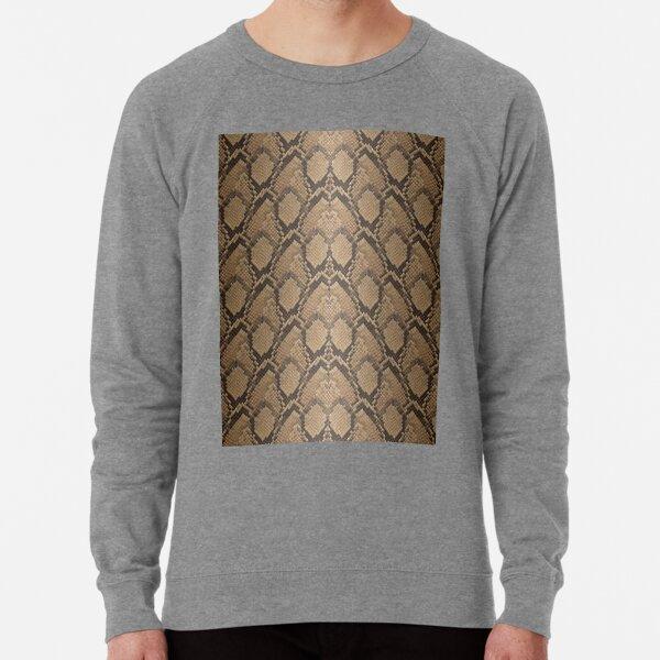 Golden Brown Python Snake Skin Reptile Scales Lightweight Sweatshirt