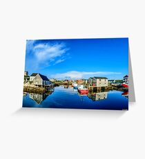 Calm Water at Peggys Cove Greeting Card