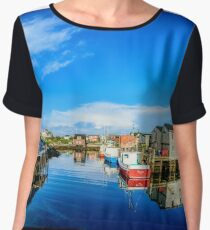 Calm Water at Peggys Cove Women's Chiffon Top