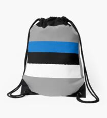 Estonia Flag Drawstring Bag