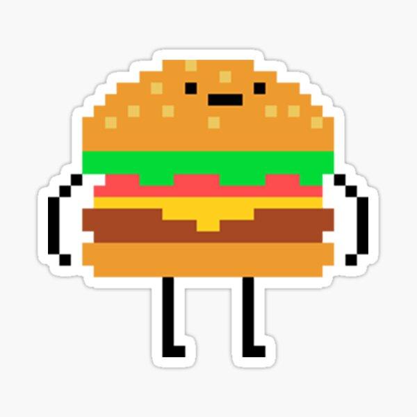 Stickers Sur Le Theme Hamburgers Pixel Redbubble