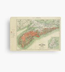 Vintage Geological Map of Nova Scotia (1906) Metal Print