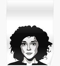 St Vincent Annie Clark (vector illustration) Poster