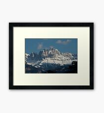 Snow on the Dolomites, Bolzano/Bozen, Italy Framed Print