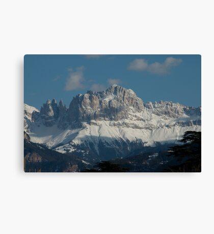 Snow on the Dolomites, Bolzano/Bozen, Italy Canvas Print