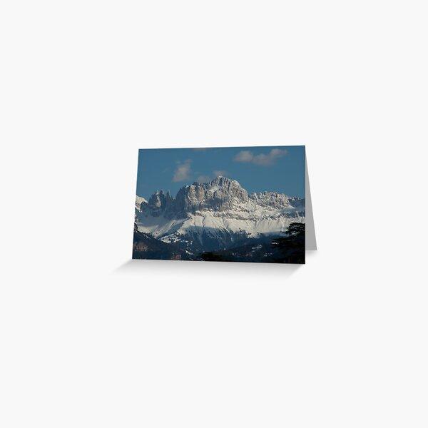 Snow on the Dolomites, Bolzano/Bozen, Italy Greeting Card