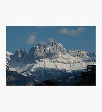 Snow on the Dolomites, Bolzano/Bozen, Italy Photographic Print