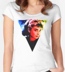 audrey hepburn  Design Women's Fitted Scoop T-Shirt