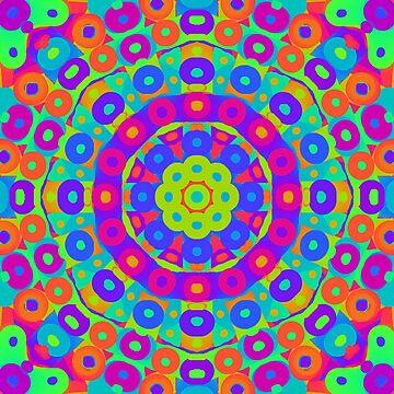 Psychedelic kaleidoscope 3 by chloemease